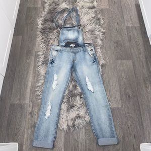 Overall jumper skinny jeans